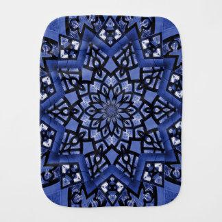 Cobalt blue pattern burp cloth