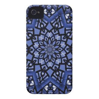 Cobalt blue pattern iPhone 4 case