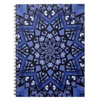 Cobalt blue pattern notebooks
