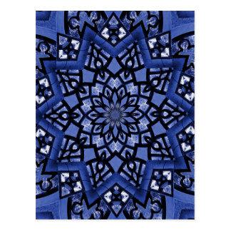 Cobalt blue pattern postcard