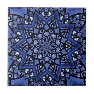 Cobalt blue pattern tiles