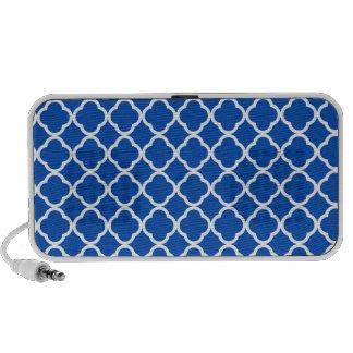 Cobalt Blue Quatrefoil Laptop Speaker