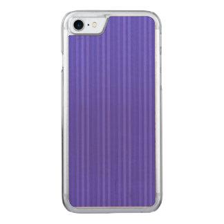 Cobalt Blue Vertical Stripes Carved iPhone 7 Case