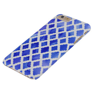 Cobalt Diamonds Barely There iPhone 6 Plus Case