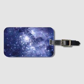 Cobalt Dreams Stars Galaxies Space Universe Nebula Bag Tag
