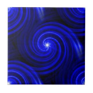 Cobalt Flurry Ceramic Tile