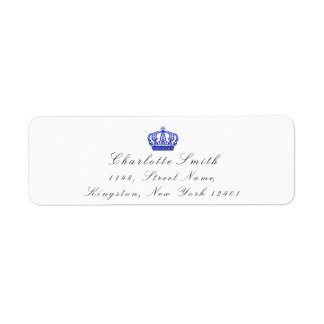 Cobalt Glitter RSVP Crown Princess Bridal White