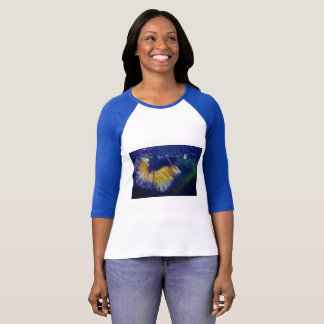 Cobalt Male Betta Bella+Canvas Raglan T-Shirt