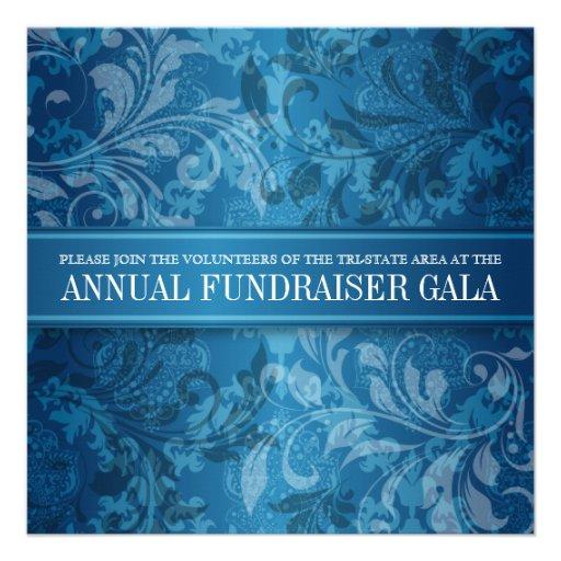 Cobalt Paisley Swirl Event Custom Invitations