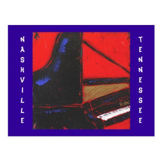 cobalt piano Nashville TN postcard