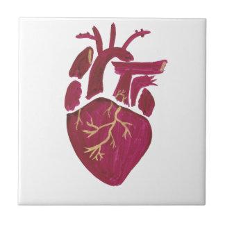 Cobalt Violet Heart Ceramic Tiles