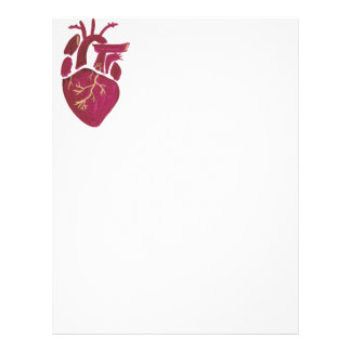 Cobalt Violet Heart Letterhead