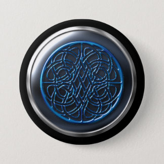 Cobalt Visionary Warrior Shield 3 Inch Round Button