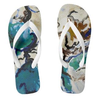 CobaltMoonDesign Blue Lagoon Adult, Flip flops
