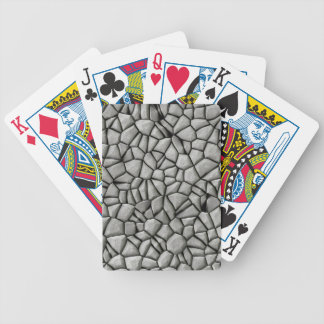 Cobble stones surface bicycle playing cards