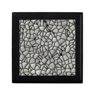 Cobble stones surface gift box
