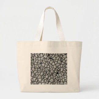 Cobble stones surface large tote bag