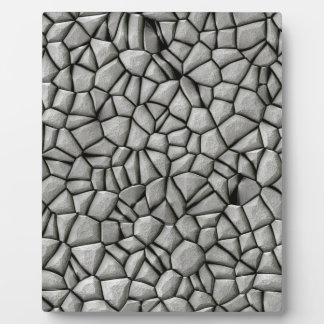 Cobble stones surface plaque