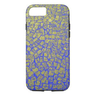 Cobblestone Case, Blue and Gold iPhone 7 Case