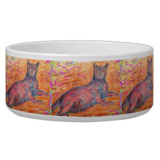 cobblestone cat dog bowl