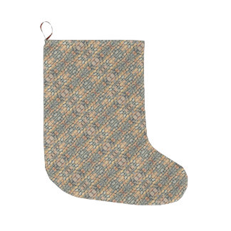 Cobblestone Geometric Texture Large Christmas Stocking