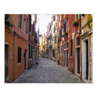 Cobblestone lane in Venice, Italy - Photo Print