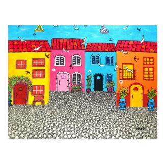 Cobblestone Streets of Sardinia Postcard