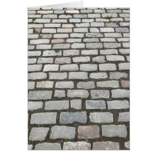 Cobblestone Walkway, Central Park, New York City Card