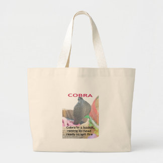 Cobra in a Basket Ready to spit Fire Large Tote Bag