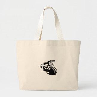 Cobra in Flames Large Tote Bag