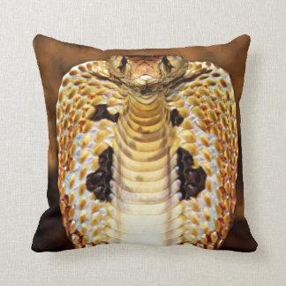Cobra Snake Hooded / Fire Blazing Editable! Throw Pillow