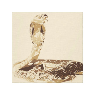 Cobra snake polygon art illustration canvas print