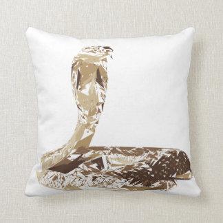 Cobra snake polygon art illustration throw pillow
