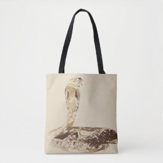 Cobra snake polygon art illustration tote bag