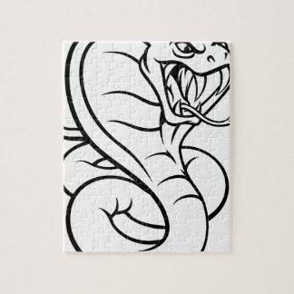 Cobra Snake Viper Mascot Jigsaw Puzzle