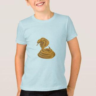Cobra Viper Snake Coiled Drawing T-Shirt