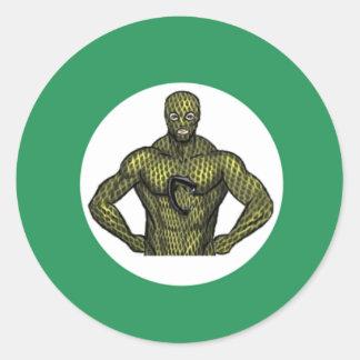 Cobraman classic round stickers