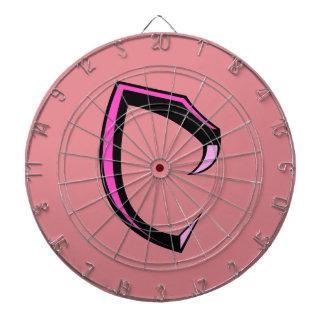 "Cobraman dart board - Logo ""C"" (Pink)"
