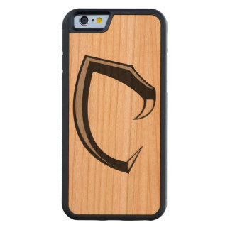 "Cobraman Logo ""C"" iphone cherry wood case"