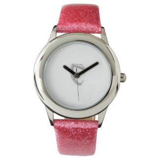 "Cobraman pink watch girls. Silver ""C"""