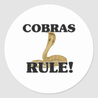COBRAS Rule! Classic Round Sticker