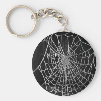 Cobweb Basic Round Button Keychain