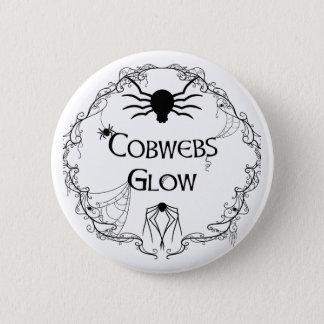 Cobwebs Glow 2 Inch Round Button