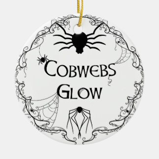 Cobwebs Glow Ceramic Ornament