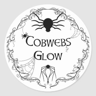 Cobwebs Glow Classic Round Sticker