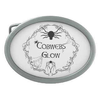 Cobwebs Glow Oval Belt Buckle