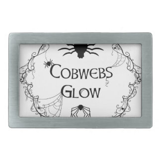 Cobwebs Glow Rectangular Belt Buckles