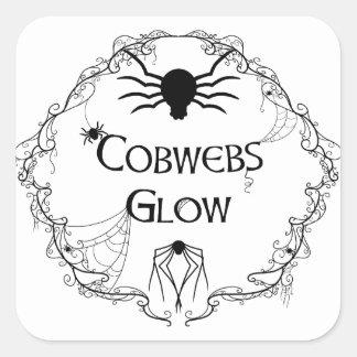 Cobwebs Glow Square Sticker