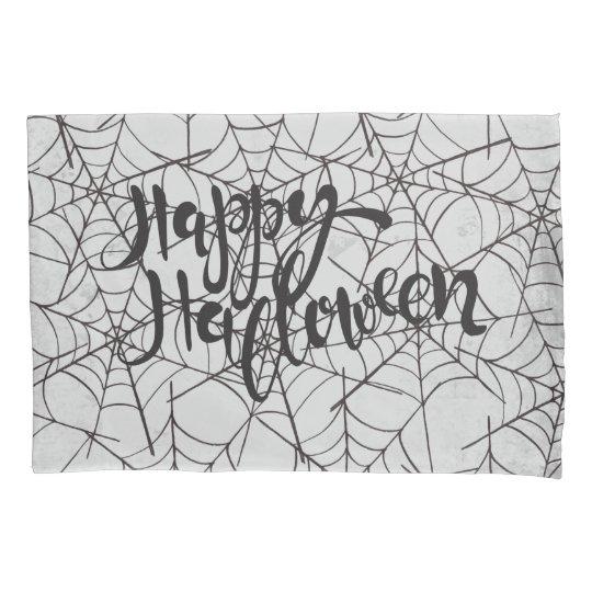 Cobwebs Happy Halloween Pillowcase