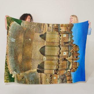 Coca Castle, Spain Acrylic Art Fleece Blanket